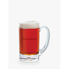 Buy Dartington Crystal Personalised Exmoor Tankard, Gabriola Font Online at johnlewis.com
