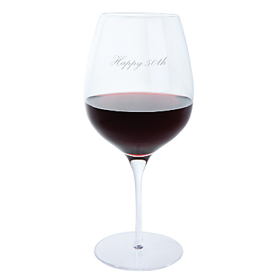 Dartington Crystal Personalised Red Wine Glass (Single), Palace Script Font