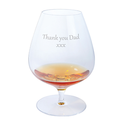 Dartington Crystal Personalised Origin Brandy Glass (Single), Gabriola Font