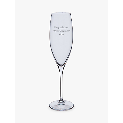 Dartington Crystal Personalised Wine Master Flute (Single), Gabriola Font