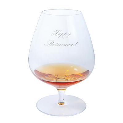 Dartington Crystal Personalised Origin Brandy Glass (Single), Palace Script Font