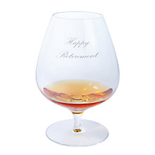 Buy Dartington Crystal Personalised Origin Brandy Glass (Single), Palace Script Font Online at johnlewis.com