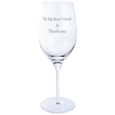 Dartington Crystal Personalised Origin White Wine Glass (Single), Gabriola Font