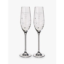Buy Dartington Crystal Personalised Glitz Flute, Set of 2, Palace Script Font Online at johnlewis.com