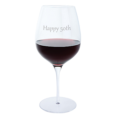Dartington Crystal Personalised Red Wine Glass (Single), Gabriola Font