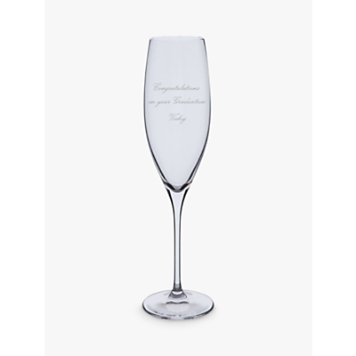 Dartington Crystal Personalised Wine Master Flute (Single), Palace Script Font