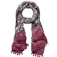 Buy Lola Rose Animal Mandala Wool Blend Scarf, Maroon/Multi Online at johnlewis.com