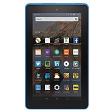 "Buy Amazon Fire 7 Tablet, Quad-core, Fire OS, 7"", Wi-Fi, 8GB, Black Online at johnlewis.com"