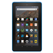 "Buy New Amazon Fire 7 Tablet, Quad-core, Fire OS, 7"", Wi-Fi, 16GB Online at johnlewis.com"
