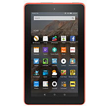 "Buy New Amazon Fire 7 Tablet, Quad-core, Fire OS, 7"", Wi-Fi, 16GB, Tangerine and Microsoft Office 365 Home Premium Online at johnlewis.com"