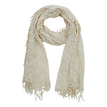 Buy Oasis All Over Lace Scarf, Cream Online at johnlewis.com