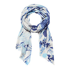 Buy Lola Rose Geotopian Flowers Wool Blend Scarf, Blue Online at johnlewis.com