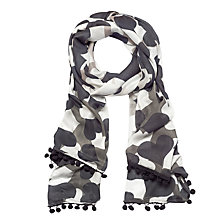 Buy Lola Rose Lola's Hearts Wool Blend Scarf, Black/Taupe Online at johnlewis.com