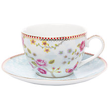 Buy PiP Studio Chinese Blossom Cup & Saucer, White Online at johnlewis.com