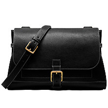 Buy Mulberry Small Buckle Leather Satchel, Black Online at johnlewis.com