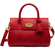Buy Mulberry Bayswater Satchel, Scarlet Online at johnlewis.com