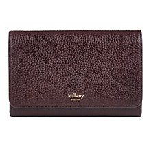 Buy Mulberry Continental Medium Leather Wallet Online at johnlewis.com