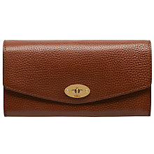 Buy Mulberry Postman's Lock Leather Wallet, Oak Online at johnlewis.com