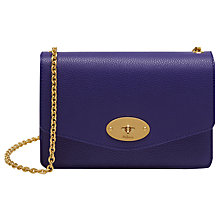 Buy Mulberry Postman's Lock Small Classic Grain Clutch Wallet, Indigo Online at johnlewis.com