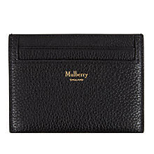 Buy Mulberry Continental Leather Credit Card Slip, Black Online at johnlewis.com