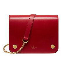 Buy Mulberry Clifton Crossboarded Calf Leather Across Body Bag, Scarlet Online at johnlewis.com