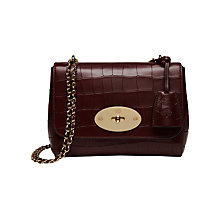 Buy Mulberry Lily Deep Embossed Croc Print Small Shoulder Bag, Oxblood Online at johnlewis.com