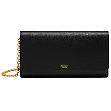Buy Mulberry Continental Clutch Wallet, Black Online at johnlewis.com