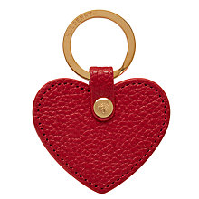 Buy Mulberry Leather Heart Keyring Online at johnlewis.com