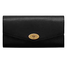 Buy Mulberry Postman's Lock Leather Wallet, Black Online at johnlewis.com
