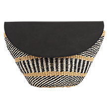 Buy Jigsaw The Basket Room Woven Clutch Bag, Black Online at johnlewis.com