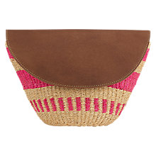 Buy Jigsaw The Basket Room Woven Clutch Bag, Pink Online at johnlewis.com