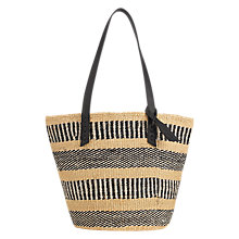 Buy Jigsaw The Basket Room Woven Shopper Bag, Black Online at johnlewis.com