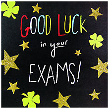 Buy Hotchpotch Good Luck In Your Exams Card Online at johnlewis.com