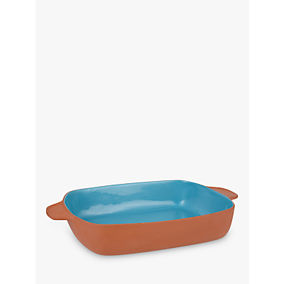 Image of LEON Terracotta Rectangular Dish, Teal