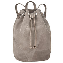 Buy Pieces Bianca Suede Backpack, Grey Online at johnlewis.com