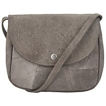 Buy Pieces Biance Suede Across Body Bag, Grey Online at johnlewis.com