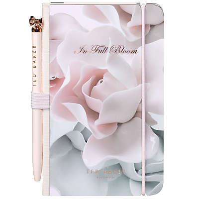 Ted Baker Min Notebook and Pen, Rose