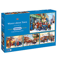 Buy Gibsons Winter About Town Jigsaw Puzzles, Set of 4 x 500 pieces Online at johnlewis.com
