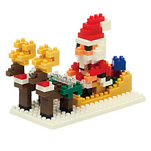 Buy Nanoblock Santa and Reindeer Nanoblock Online at johnlewis.com