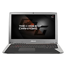 "Buy ASUS GX700 Watercooled Gaming Laptop, Intel Core i7, 32GB RAM, 512GB, 17.3"", Grey/Silver Online at johnlewis.com"
