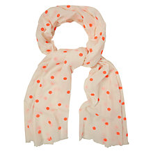 Buy White Stuff Neon Spot Scarf, Pink Online at johnlewis.com