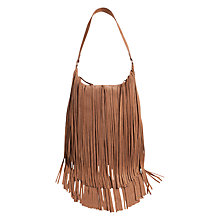Buy Pieces Suede Fringe Bag, Tan Online at johnlewis.com
