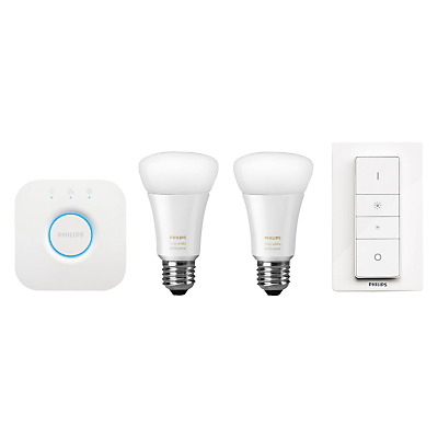 Philips Hue White Ambiance Wireless Lighting LED Starter Kit, Multi