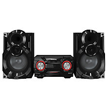 Buy Panasonic SC-AKX400EBK DAB+/FM/CD Bluetooth Micro Hi-Fi System With 600W Sound & Colour-Changing Lights Online at johnlewis.com