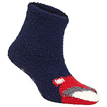 Buy John Lewis Cosy Fox Bootie Socks, Navy/Red Online at johnlewis.com