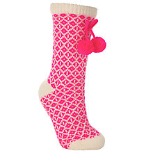 Buy John Lewis Fairisle Knitted Bootie Socks Online at johnlewis.com