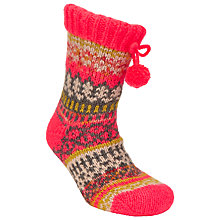 Buy John Lewis Fair Isle Knitted Bootie Socks, Multi Online at johnlewis.com