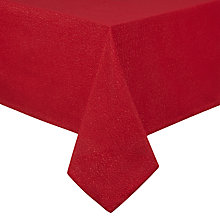 Buy John Lewis Sparkle Tablecloth, Red Online at johnlewis.com