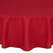 Buy John Lewis Sparkle Tablecloth, Dia.180cm, Red Online at johnlewis.com