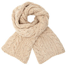 Buy John Lewis Tree Cable Scarf, Oat Online at johnlewis.com